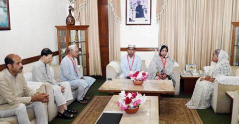 Abrar's parents meet PM