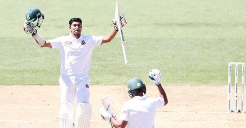 Soumya hits maiden Test ton