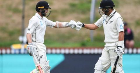 Taylor 200 as New Zealand declare at 432-6, lead by 221