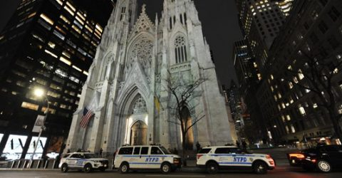 Man arrested carrying gasoline into NY cathedral: police