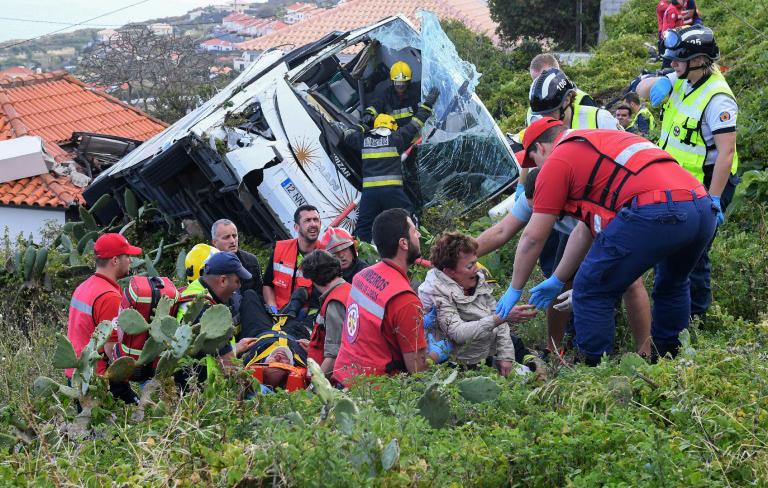 29 German tourists killed in Madeira bus crash