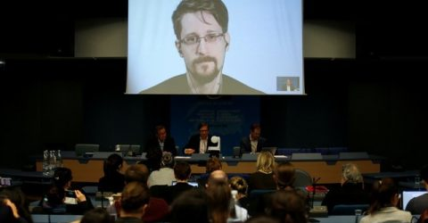 Snowden says Assange arrest 'dark moment for press freedom'