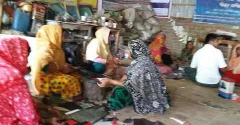 Rajshahi female shoe-makers pass busy time ahead of Eid