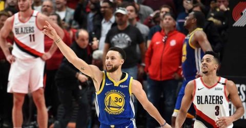 Warriors beat Trail Blazers in overtime to reach NBA Finals