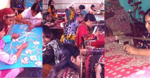 Artisans busy with ornamental stitching ahead Eid-ul-Fitr