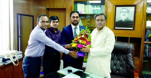 Jobaer Alam pays courtesy call on Information Minister
