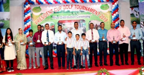 President Cup Golf Tournament-2019 ends in Rangpur