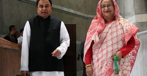 PM places budget on behalf of finance minister
