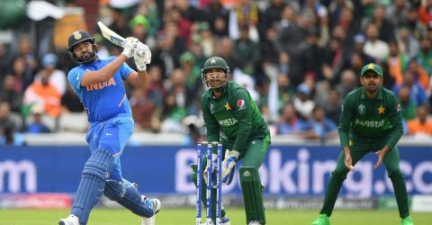 Ton-up Sharma puts India on top against Pakistan
