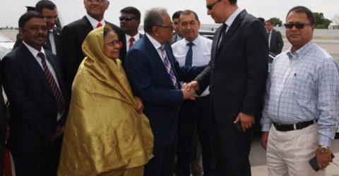 President leaves Uzbekistan for home