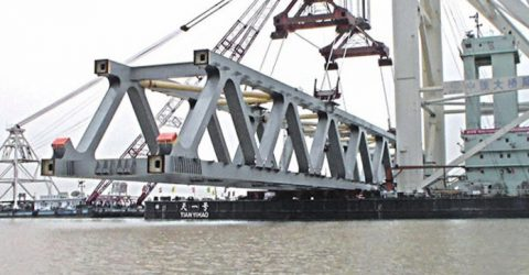 2.55 km of Padma Bridge visible as 17th span installed