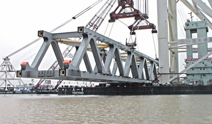 3,300 metre of Padma Bridge visible as 22nd span installed
