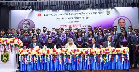PM asks new BCS admin cadre officials to be innovative, dutiful