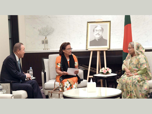 Moon proposes building of global adaptation centre in Bangladesh
