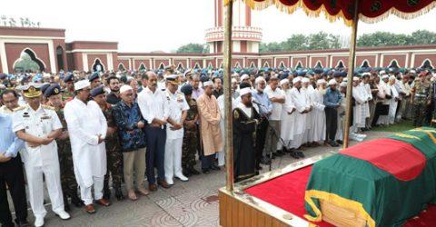 1st namaz-e-janaza of Ershad held