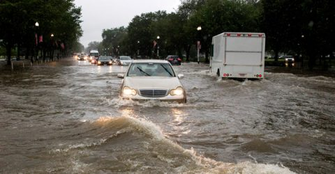 Washington DC hit by torrential rain, flooding
