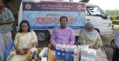 Mobile healthcare launched for Panchagarh flood victims