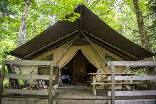 Glamping with French flair in the wilds of North America