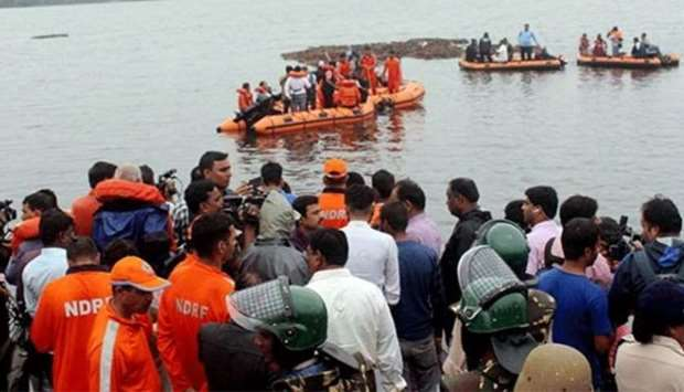 Indian rescuers search for 39 missing after boat accident