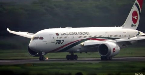 Biman's 4th Dreamliner 'Rajhangsha' arrives