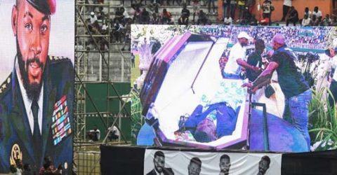 Ivory Coast bids singer DJ Arafat farewell, fans open his coffin