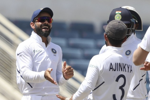 West Indies 45-2, needing 423 runs to win, against India at stumps