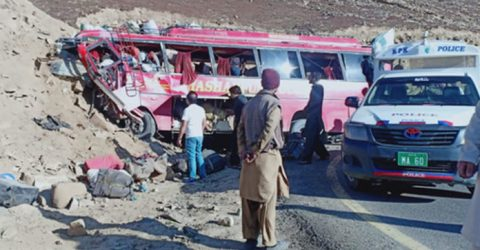 Pakistan bus accident kills 23, injures 18