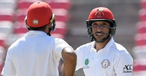 Afghans edge Tigers on day 1 after Rahmat's historical ton