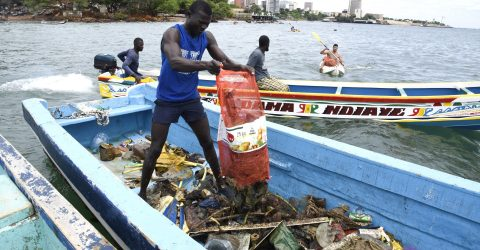 Divers fight Senegal's plastic tide
