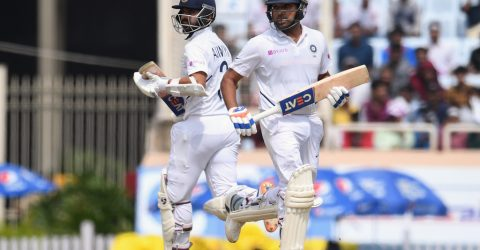 Sharma, Rahane help India hit back after early wobble