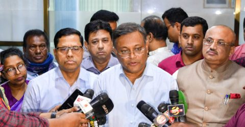 BNP pursuing 'ill politics' over Khaleda's illness: Hasan