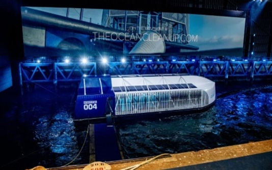 Dutch inventors roll out river plastic clean-up barge