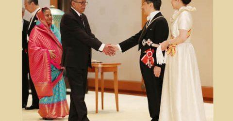 President invites Japanese emperor, empress to visit Bangladesh