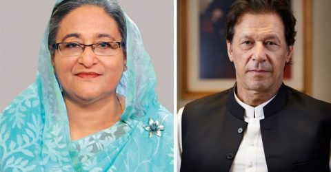 Imran Khan phones Sheikh Hasina, wants to know about corona situation