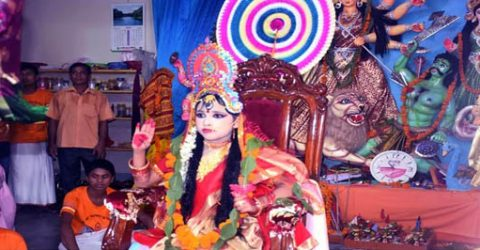 Sanaton community celebrates Kumari Puja in Rangpur