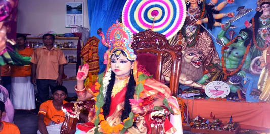 Sanaton community celebrates Kumari Puja in Rangpur