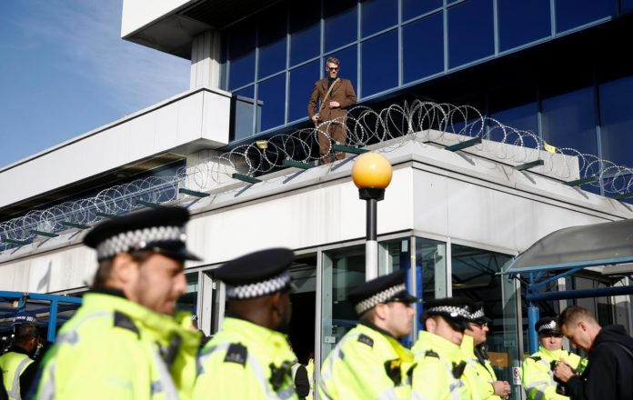 Climate protesters try to 'occupy' London city airport