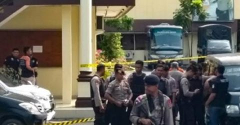 One dead, 6 injured in suicide bombing at Indonesian police station