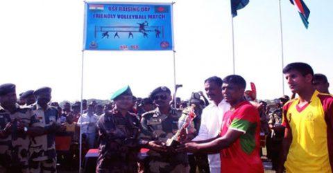 BGB-BSF friendly volleyball match held in Jalpaiguri