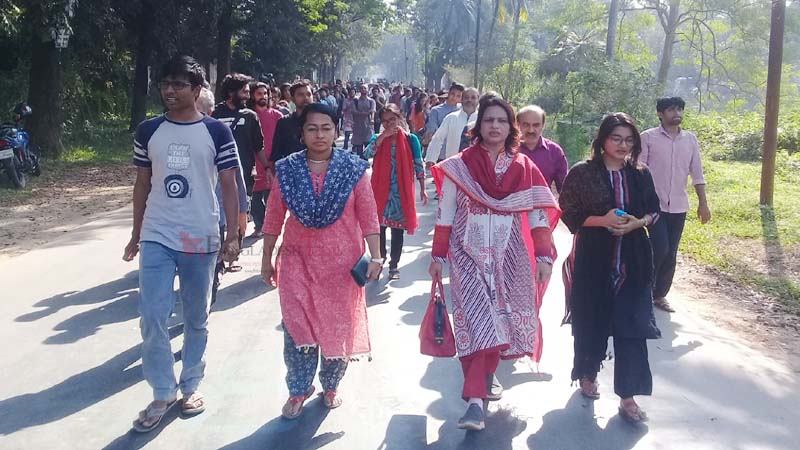 Protest march at JU demanding VC`s removal