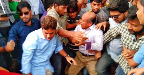 BCL attack on Protestors at JU: Students asked to vacate hall
