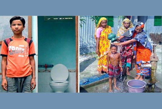 Hygienic sanitation facilities benefiting char people