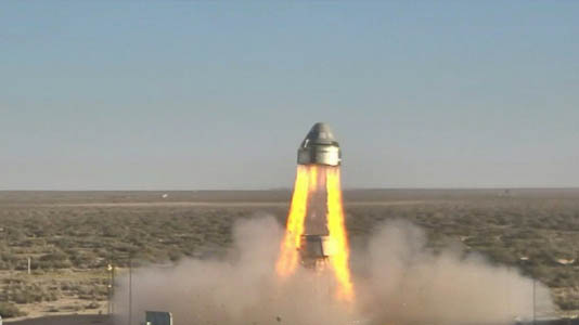 Boeing tests space crew capsule, reports problem with parachute