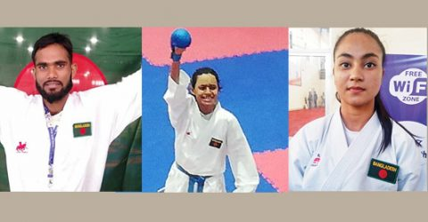 Al Amin, Marzan, Antara win gold in SAGames karate