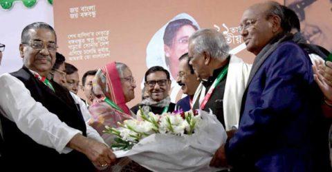 Sheikh Hasina reelected AL president, Quader general secretary