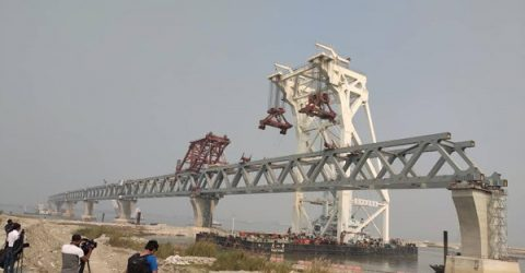 Over 3 km of Padma Bridge visible as 21st span installed