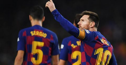 Messi celebrates Balon d'or with his 35th hat-trick as Barca beat Mallorca
