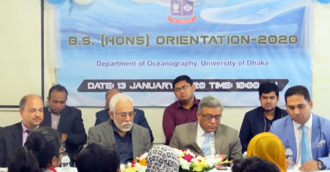 Freshmen reception held at DU Oceanography Department
