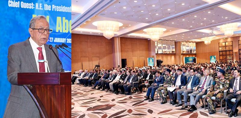 President stresses global efforts