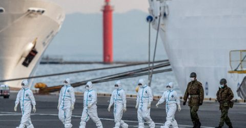 Japan cruise ship virus cases jump to 218